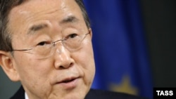 UN Secretary-General Ban Ki-moon is on a tour of Central Asia.