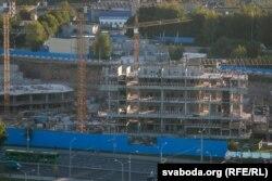 Так выглядала будоўля Газпром-цэнтру леташняй восеньню