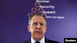 Ресей сыртқы істер министрі Сергей Лавров Гаагада өтіп жатқан ядролық қауіпсіздік саммитінде.Нидерланд, 24 наурыз 2014 жыл.