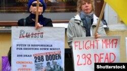 Акція протесту біля посольства Росії в Естонії, архівне фото