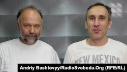 Андрій Курков (ліворуч) та Володимир Тихий (праворуч)