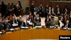 Момент голосования в Совете Безопасности ООН. Иллюстративное фото.