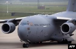 Літак ВПС Австралії з останками загиблих. Ейндховен, 8 листопада 2014 року