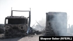 موترهای آتش گرفته در بندر اسلامقلعه هرات