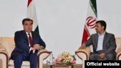 Тәжікстан мен Иран президентінің кездесуі. 26 маусым. 2011 жыл.