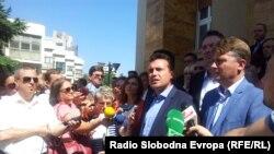 Zoran Zaev, gjatë konferencës për shtyp së Lidhjes Social Demokrate në Maqedoni