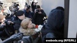 Затрыманьні актывістаў на плошчы Якуба Коласа ў Менску 25 сакавіка