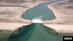 The Kokaral dam in the North Aral Sea