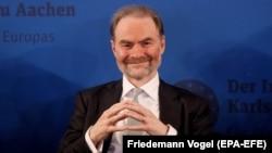 Timothy Garton Ash, la primirea Premiului Charlemagne în 2017, la Aachen
