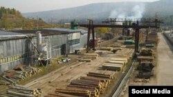 Одно из деревообрабатывающих производств в Усть-Илимске