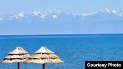 Issyk Kul is a popular resort with Kazakh tourists.