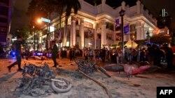 Місце вибуху в Бангкоку, 17 серпня, 2015 року