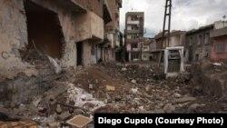 Район города Диярбакыр, где проводится войсковая операция, 15 марта 2016