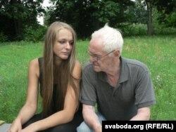 Яанна Стэльмашук і прафэсар Багдан Глушчак, Шчыты, ліпень 2011