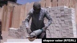 یک کارخانه سنگبری مرمر در هرات