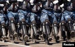 Парад казахстанских военнослужащих. Иллюстративное фото.