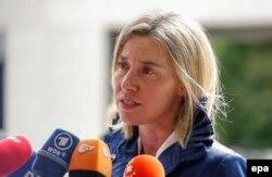 Federica Mogherini, vorbind la Luxembourg