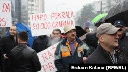 Protest u Banjaluci, 28. februar 2015.
