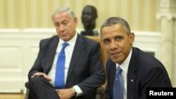 Netanyahu gjatë takimit me presidentin Obama, të hënën më 30 shtator në Washington
