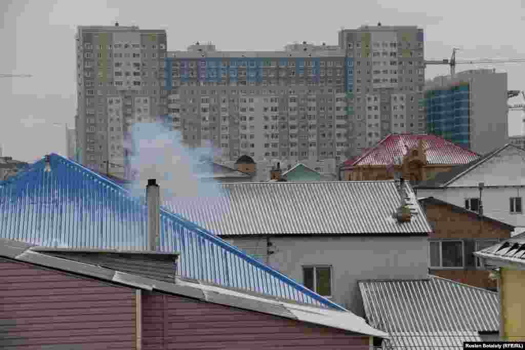 Астананың сол жағалауындағы көрініс.