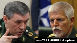 Petr Pavel və Russian General Staff Valery Gerasimov