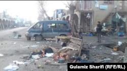 انفجار عصر دیروز در یک بازار در ولایت بامیان