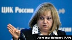 Председатель Центральной избирательной комиссии России Элла Памфилова. Москва, 12 января 2018 года.