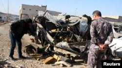 Pamje pas një sulmi të mëparshëm me bombë në Bagdad