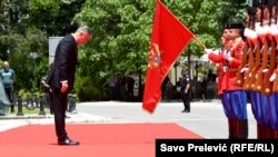 На церемонии инаугурации президента Черногории Мило Джукановича. Подгорица, 20 мая 2018 года.