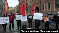 Пикет против высоких цен, Петербург, 21 декабря 2014