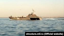 Боевой корабль Черноморского флота. Апрель 2018 года