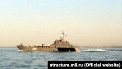 Бойовий корабель Чорноморського флоту. Квітень 2018 року