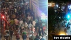 عکسی که کانال تلگرامی روزنامه «سازندگی» میگوید خیابان دارایی تبریز است و مردم برای فروش دلار هجوم آوردهاند.
