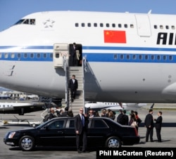 Xi descends onto U.S. soil in 2012.
