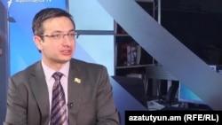 Секретарь фракции «Елк» Геворк Горгисян в студии «Азатутюн ТВ» (архив)