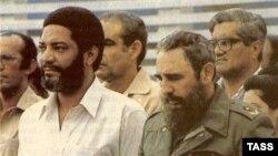 Морис Бишоп со своим кумиром Фиделем Кастро
