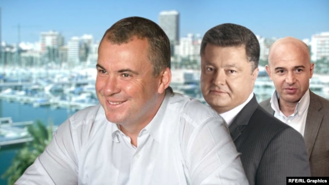 Власники групи компаній «Укрпромінвест» Олег Гладковський, Петро Порошенко та Ігор Кононенко