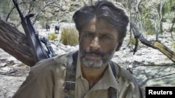 Allah Nazar Baluch, the leader of the Baluchistan Liberation Front, at an undisclosed location in Baluchistan province, undated