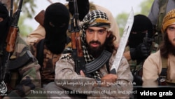 """Abu Maryam al-Faransi warns: """"This is a message to all the enemies of Islam and specifically France. The mujahedin [militants] around the world will not hesitate to cut off your heads."""""""
