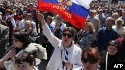The seizure of the broadcast center in Donetsk followed a pro-Russian rally in the center of the city, where separatists are already occupying the regional governor's office and city hall.