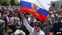 Украина -- Орусиячыл демонстранттар, Донецк, 27-апрель, 2013.
