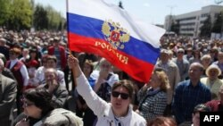 Пророссийский митинг в Донецке, 27 апреля 2014