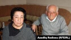 Родители корреспондента газеты «Зеркало» Рауфа Миркадырова - Рафига и Габибулла Миркадыровы, 23 апреля 2014