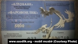 The Agrobank lottery, an offer Uzbeks really can't refuse.