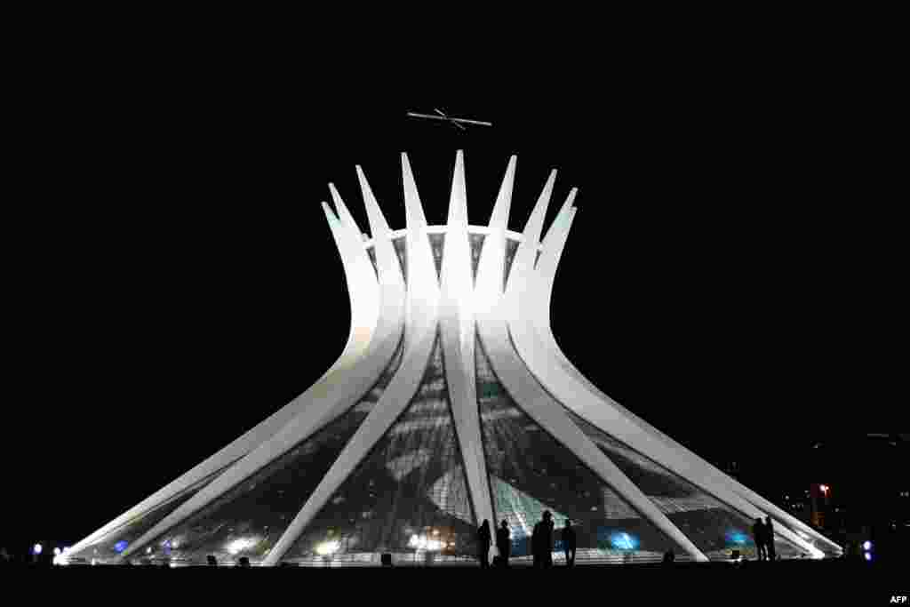 Brasilia's cathedral, the Metropolitana Nossa Senhora Aparecida, inaugurated in 1960