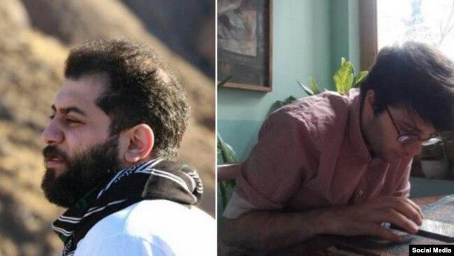 علی حقیقتجوان (راست) و امیرحسین علیبخشی، دو فعال دانشجویی