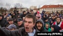 Марш недармаедаў у Горадні 15 сакавіка 2017 года