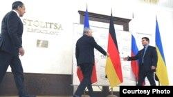 Сустрэча міністраў замежных спраў так званай «нармандзкай чацьвёркі» 29 лістапада ў Менску ў «Прэзыдэнт-гатэлі». Усе фота Пятра Аўдзеева.