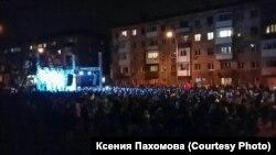 Митинг Алексея Навального в гайд-парке в Кемерове