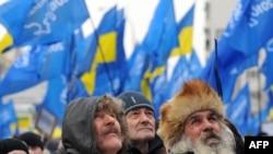 Виктор Януковичтин тарапкерлери Киевде чогулушту. 9-февраль, 2010-ж.